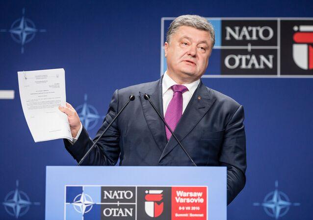 Ukrajinský prezident Petro Porošenko ve Varšavě