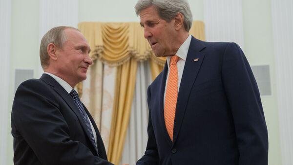 Schůzka Vladimira Putina a Johna Kerryho v Moskvě - Sputnik Česká republika