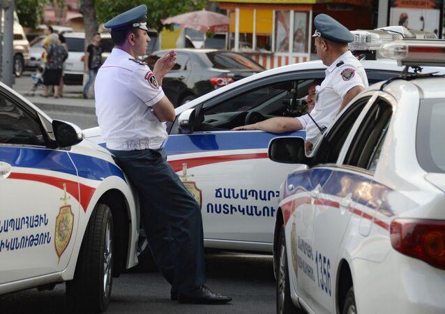 Policie v Jerevanu