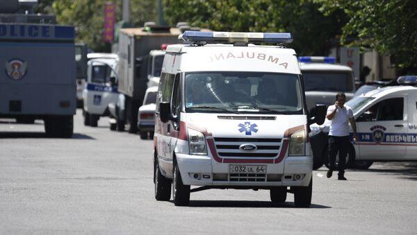 Obsazení policejní budovy v Jerevanu - Sputnik Česká republika