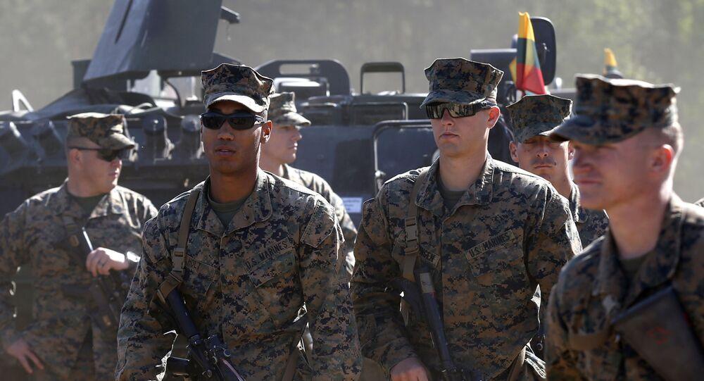 Američtí vojáci během cvičení v Litvě