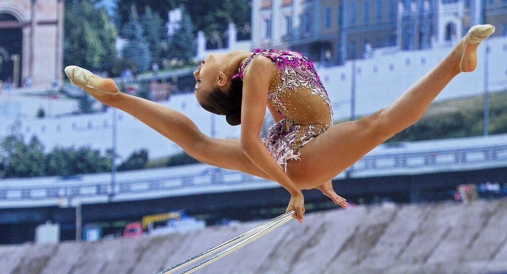 Ruská moderní gymnastka Margarita Mamunová