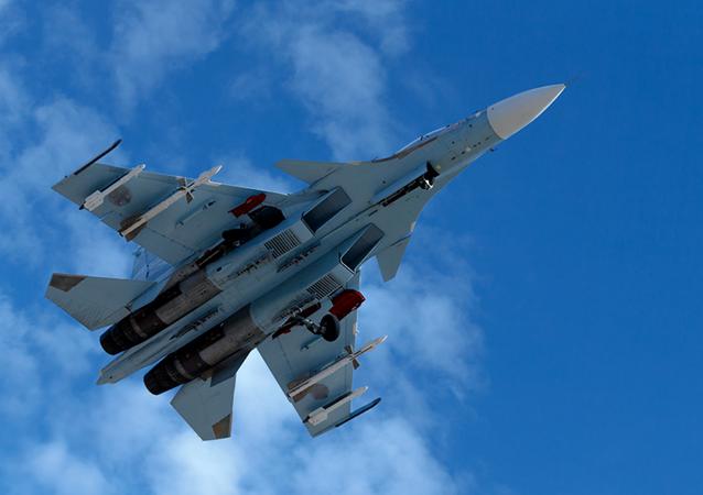 Ruská stíhačka Su-35 v Sýrii