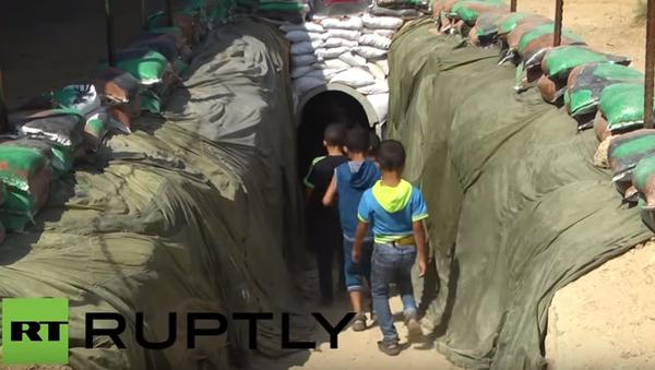 Palestina: vojenský tunel Hamásu se poprvé otevřel pro veřejnost - Sputnik Česká republika