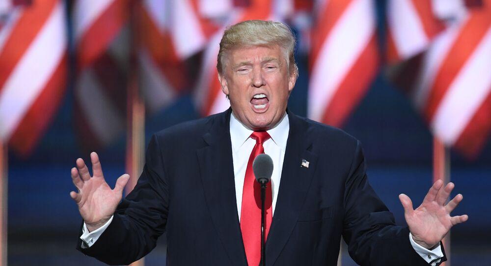 Kandidát na prezidenta USA za republikány Donald Trump