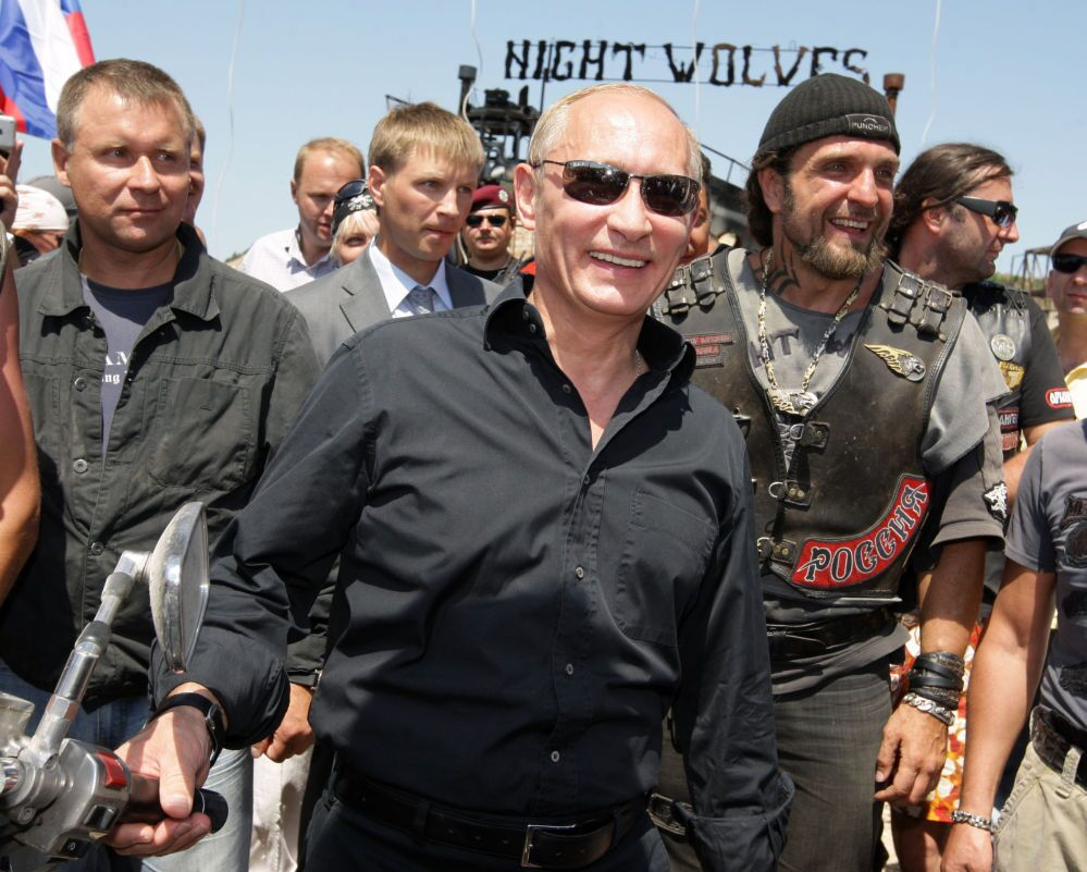 Členové motorkářského klubu Noční vlci