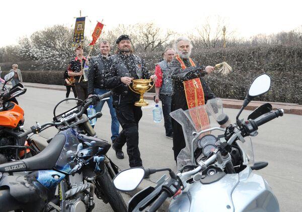 Členové motorkářského klubu Noční vlci - Sputnik Česká republika