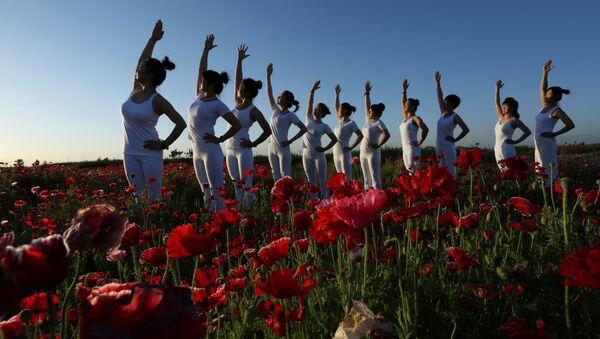Cvičení jógy v Číně - Sputnik Česká republika