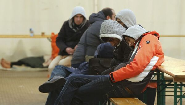 Migranti v Berlíně - Sputnik Česká republika