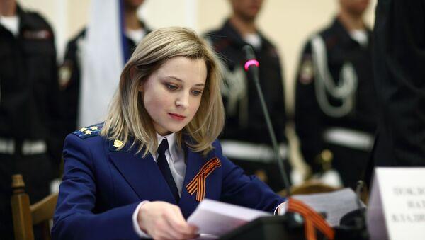 Prokurátorka Krymu Natalja Poklonskaja během ceremonie vykonávání přísahy pracovníků prokuratury Republiky Krym v Simferopolu - Sputnik Česká republika