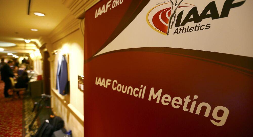 Logo Mezinárodní asociace atletických federací (IAAF)