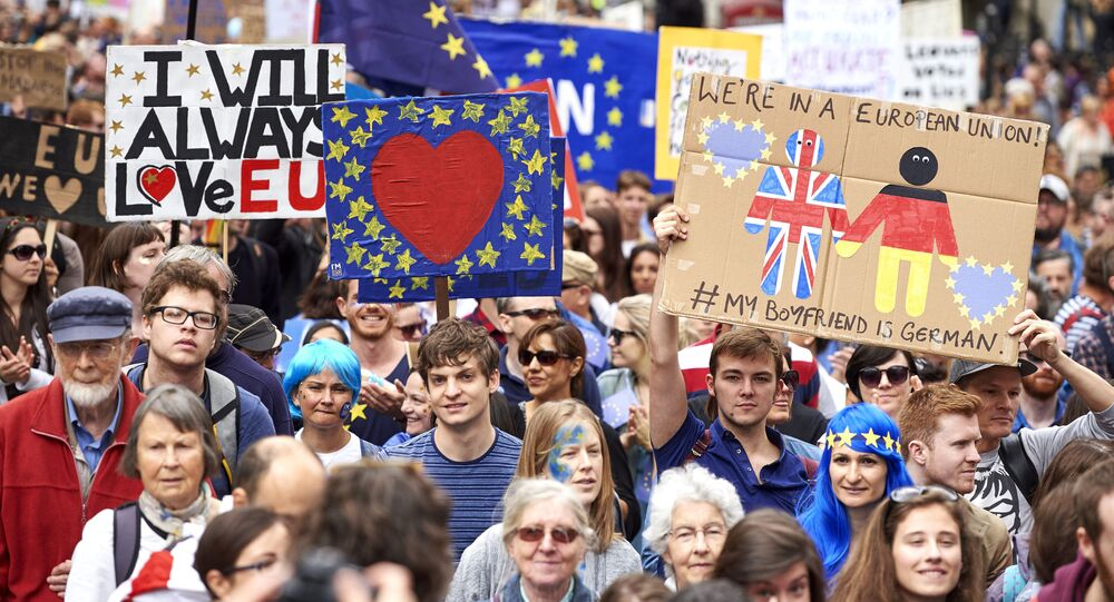 Mítink proti výstupu Velké Británie z EU