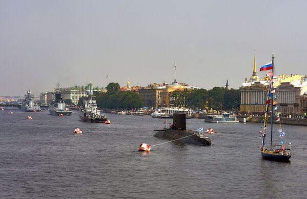 Účastníci přehlídky v Den Vojenských námořních sil - Sputnik Česká republika