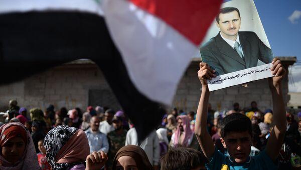 Přívrženci syrského prezidenta Bašára Asada - Sputnik Česká republika