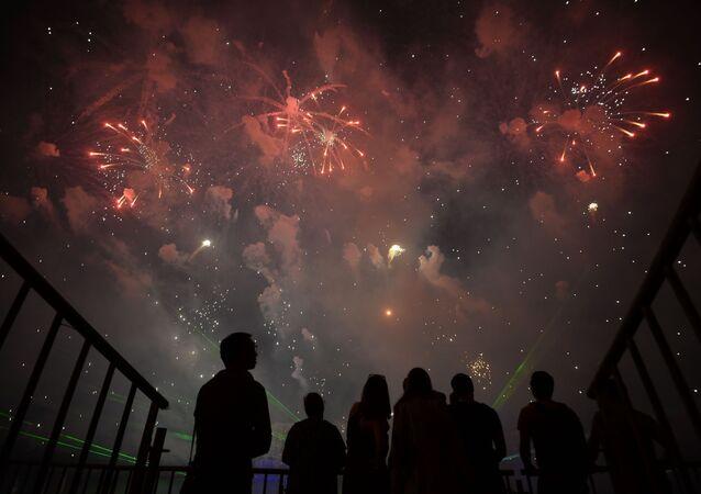 Mezinárodní festival ohňostrojů Rostech v Moskvě