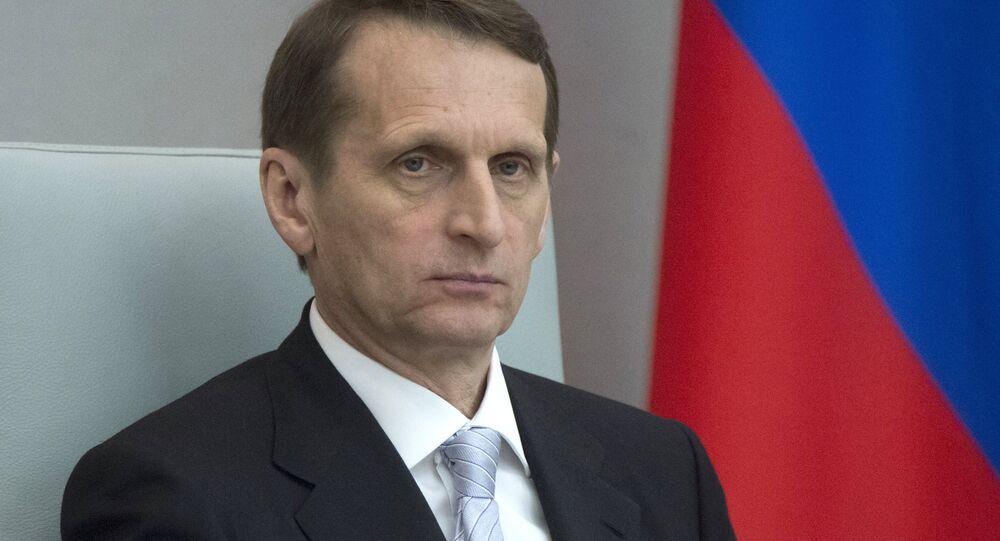 Ředitel Služby vnější rozvědky RF (SVR) Sergej Naryškin