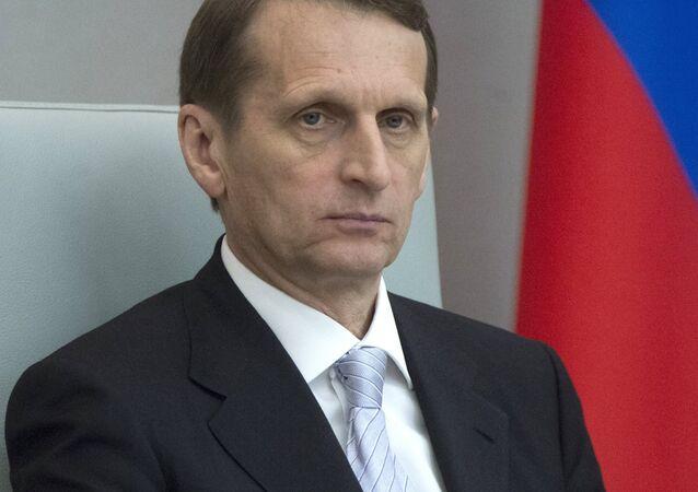 Předseda ruské Státní dumy Sergej Naryškin