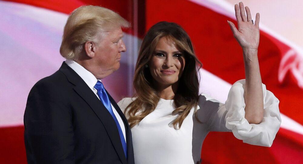 Donald Trump a jeho manželka Melania