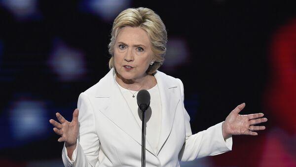 Kandidátka na prezidenta USA za Demokratickou stranu Hillary Clintonová - Sputnik Česká republika