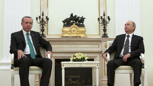 Schůzka Recepa Tayyipa Erdogana a Vladimira Putina - Sputnik Česká republika