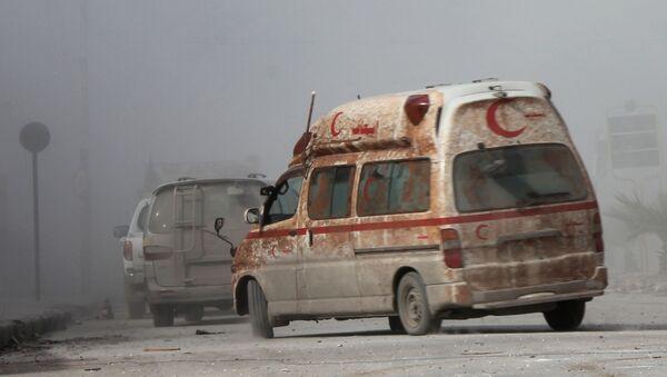 Sanitka v Aleppu - Sputnik Česká republika