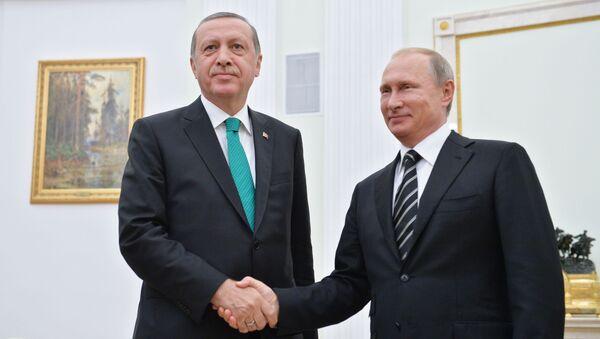 Tayyip Erdogan a Vladimir Putin - Sputnik Česká republika