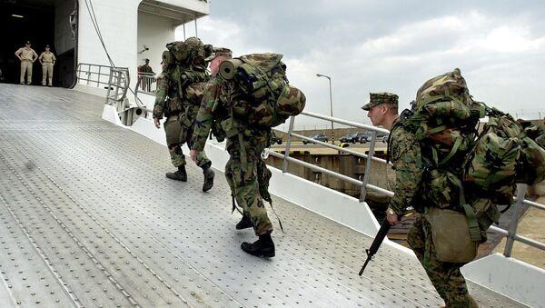 Vojáci USA na Okinawě - Sputnik Česká republika