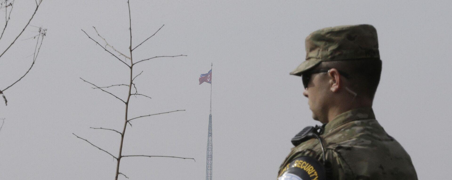 Americký voják na hranici Jižní Koreji a KLDR - Sputnik Česká republika, 1920, 28.06.2021