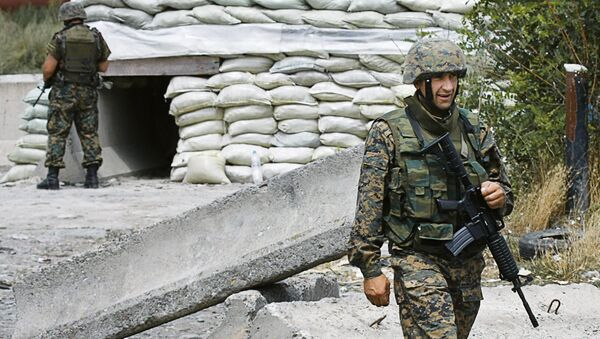 Gruzínští vojáci v roce 2008 - Sputnik Česká republika