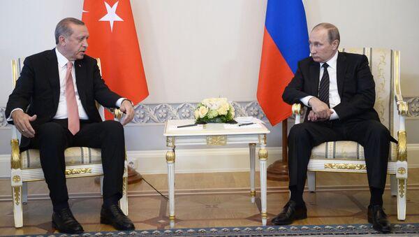 Schůzka Vladimira Putina a Recepa Erdogana - Sputnik Česká republika