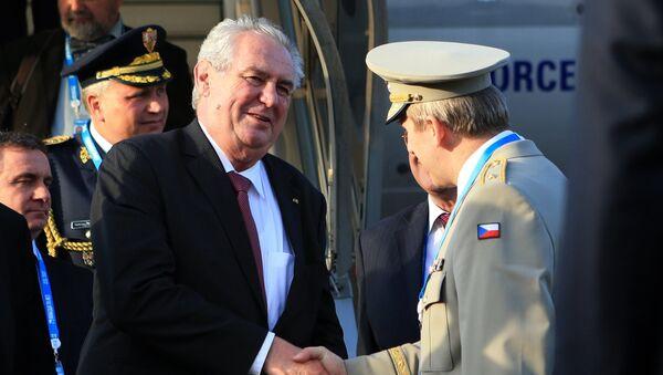 Miloš Zeman v Moskvě - Sputnik Česká republika