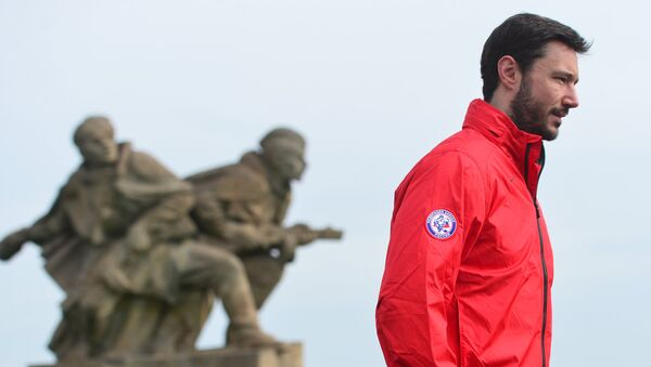 Hokejisté ruské reprezentace položili květiny k Národnímu památníku v Česku - Sputnik Česká republika