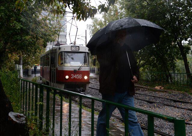 Déšť v Moskvě. Ilustrační foto
