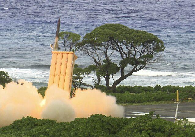 Zkouška protiraketového systému THAAD