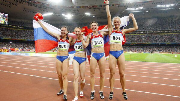 Julie Čermošanská, Alexandra Fedorivová, Jevgenija Polakovová, Julie Guščinová - Sputnik Česká republika