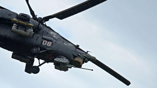 Vrtulník Mi-28 Noční lovec během letecké soutěže Aviadarts - Sputnik Česká republika