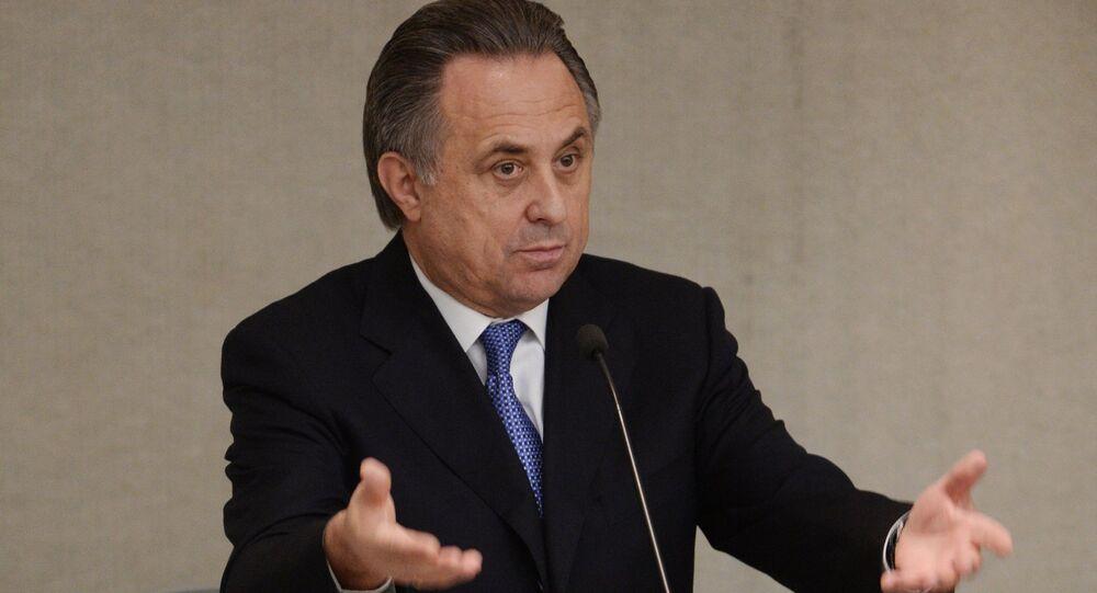 Ministr sportu Vitalij Mutko