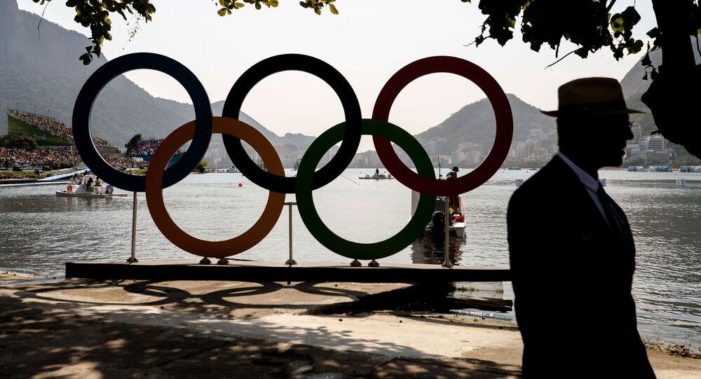 Olympijské kruhy v Riu