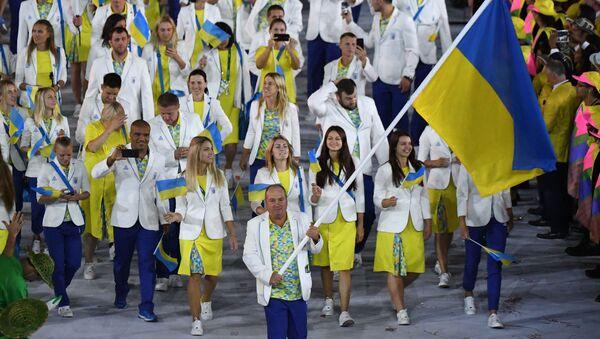 Ukrajinští sportovci během zahájení olympiády v Riu - Sputnik Česká republika
