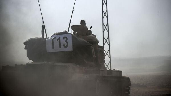 Turecký tank v Sýrii - Sputnik Česká republika