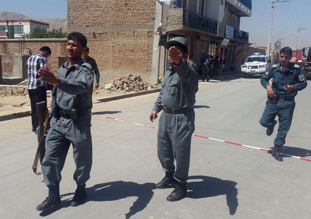 Policie v Kábulu.