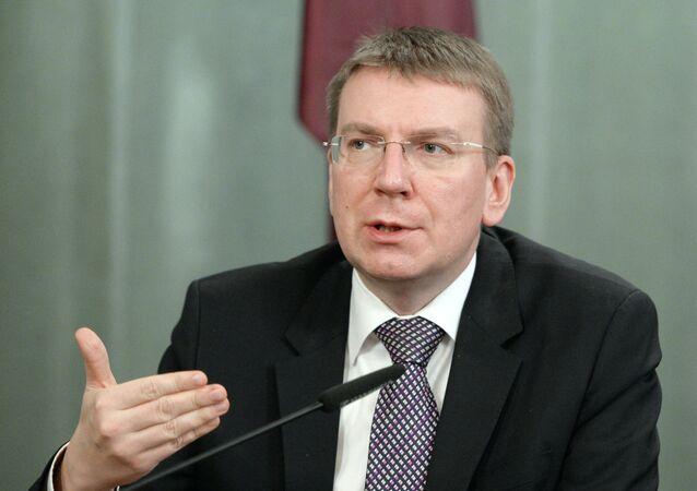 Ministr zahraničních věcí Lotyšska Edgars Rinkēvičs