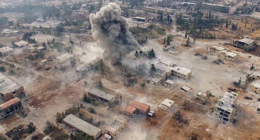 Jihozápad Aleppa v Sýrii