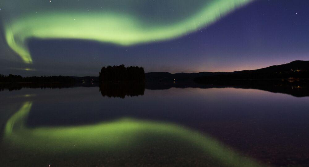 Polární záře ve Švédsku