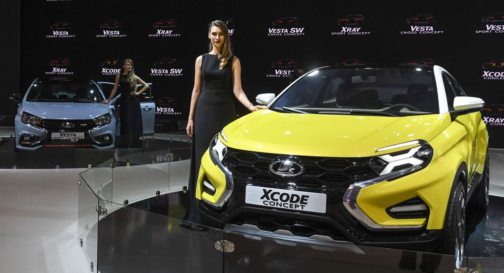 Automobil Lada Xcode na Moskevské mezinárodní výstavě automobilů 2016