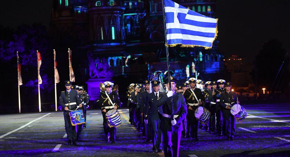 Řecký vojenský orchestr na Rudém náměstí