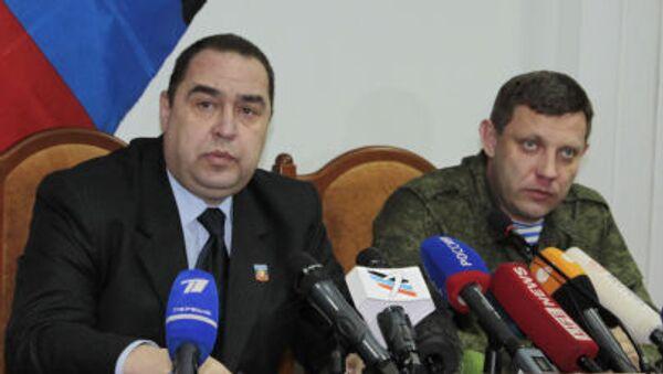 Alexandr Zacharčenko a Igor Plotnický - Sputnik Česká republika