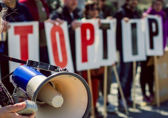 Mítink proti TTIP v Bristolu