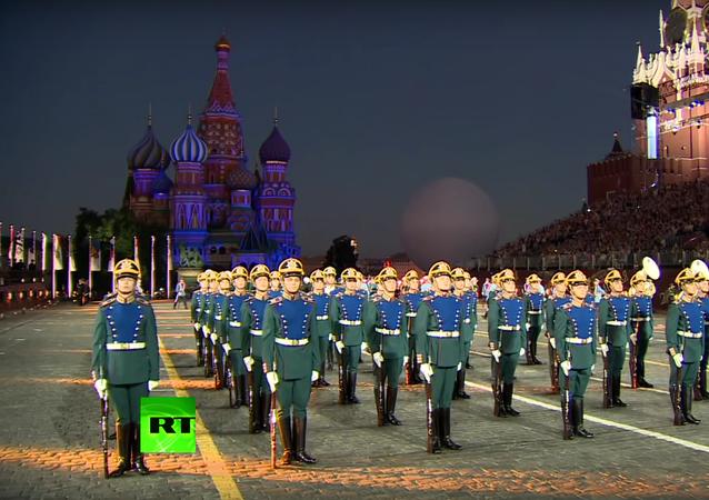 Vystoupení světových vojenských orchestrů v Moskvě