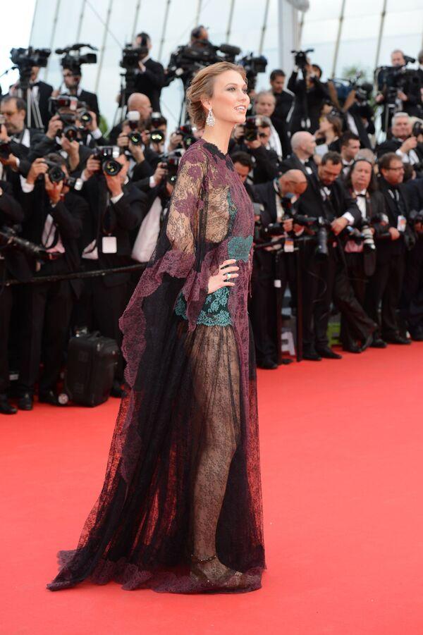 Americká supermodelka Karli Klossová během slavnostího zahájení 67. festivalu v Cannes - Sputnik Česká republika